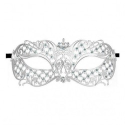 ANGEL MASQUERADE MASK PLATA