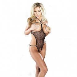 MAGIC SILK BODY CON ABERTURAS NEGRO