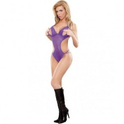 MAGIC SILK BODY TEDDY CON ABERTURAS MORADO