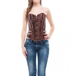 INTIMAX - CORSET FAIZA MARRON