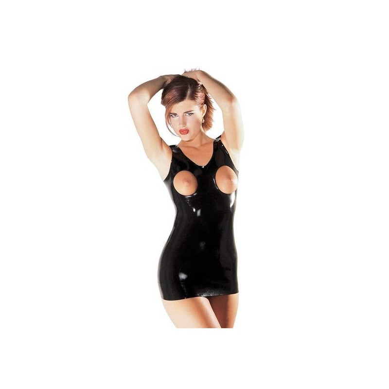 LATEX OPEN BREAST DRESS
