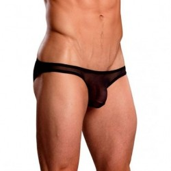 MALE POWER BIKINI NEGRO TRANSPARENCIAS
