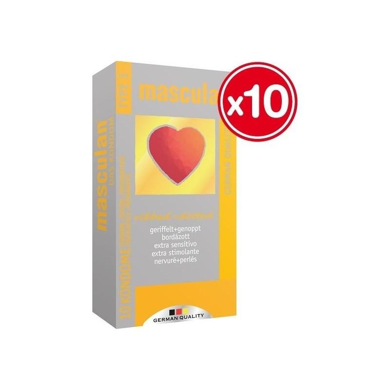 MASCULAN PRESERVATIVOS EXTRA SENSITIVOS 10 UDS (10 CAJAS)