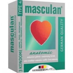 MASCULAN PRESERVATIVOS ANATOMICOS 3 UDS