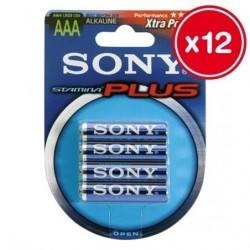 LR03/AAA SONY STAMINA PLUS 4 UDS (12 UNIDADES)