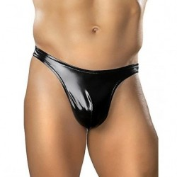 MALE POWER TANGA EFECTO LATEX NEGRO