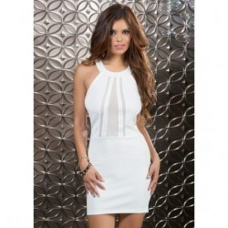 FORPLAY VESTIDO TIRANTES BLANCO