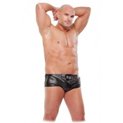 FETISH FANTASY BOXER NEGRO EFECTO MOJADO HIDDEN POCKET