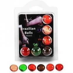 BRAZILIAN BALLS SET 6 BOLAS LUBRICANTES CON AROMAS