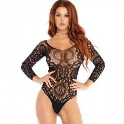 LEG AVENUE TEDDY MANGA LARGA