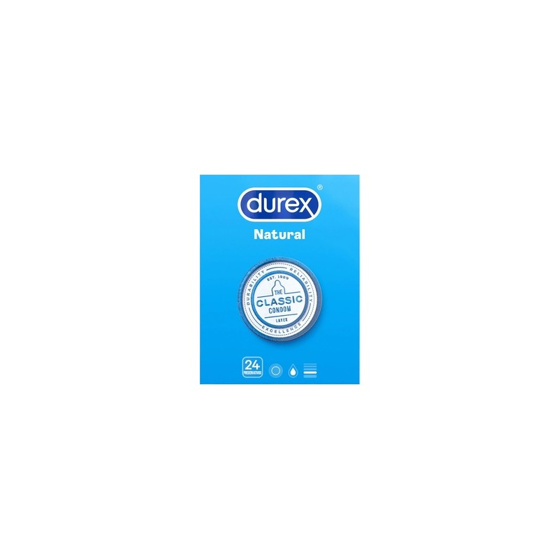 durex natural plus 24 preservativos
